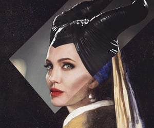 Angelina Jolie, art, and maleficent image