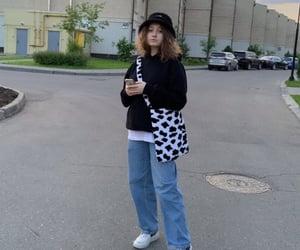 cow, panama, and fashion image