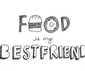 best friend, text, and food image