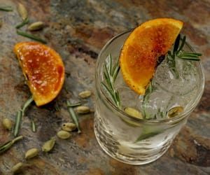 cocktail, gin and tonic, and orange image