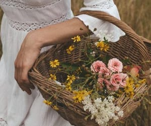 flowers, aesthetic, and dress image