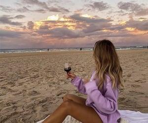 girl, fashion, and sand image
