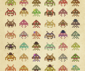 art, cool, and space invaders image