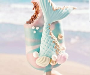 ice cream, mermaid, and dessert image