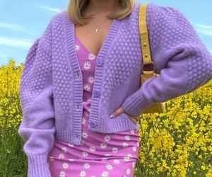 fashion, purple, and yellow image