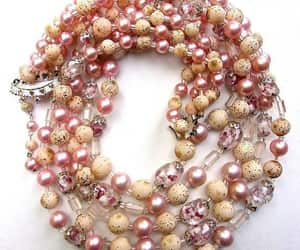 bead necklace, etsy, and renaissance fair image
