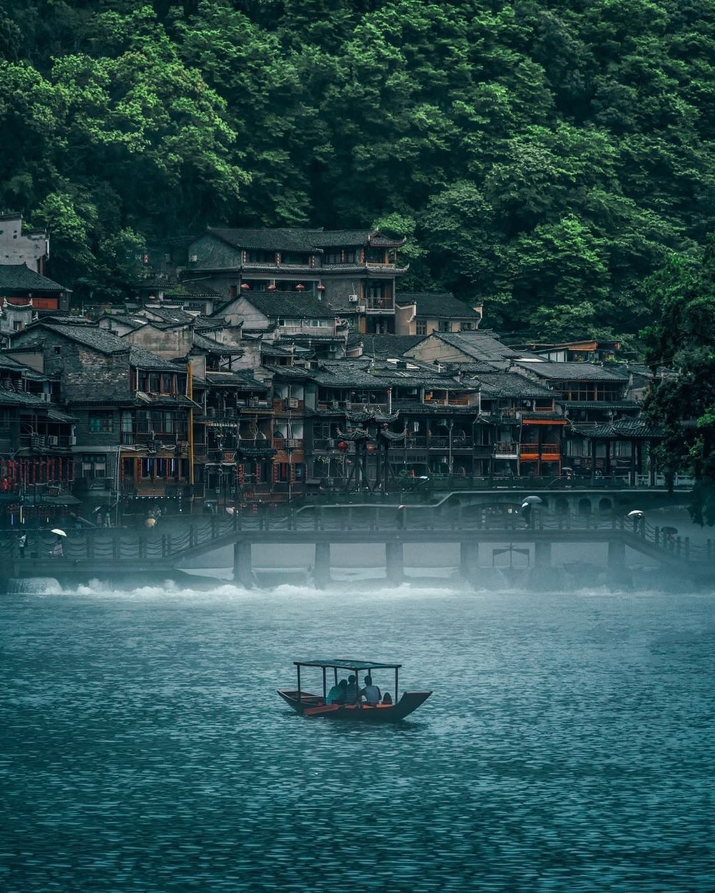 architecture, boat, and china image