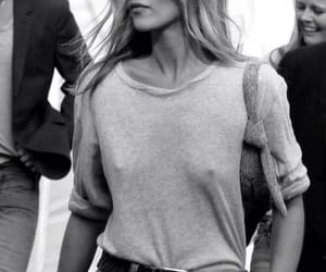 black and white, kate moss, and bra image