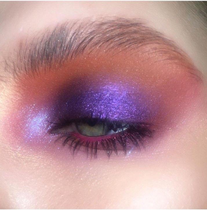 purple, aesthetic, and eyeshadow image