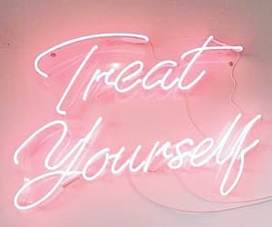 beauty, neonsign, and selfcare image