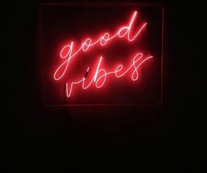 neon, neon sign, and good vibes image