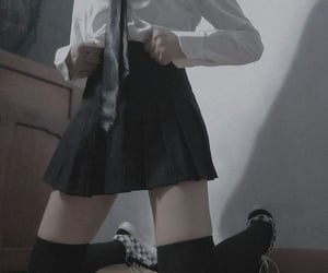 black, edgy, and girl image