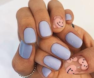 nails, hearts, and pink image