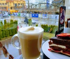 caffe, cake, and latte image