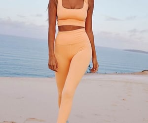 beach, gym, and orange image