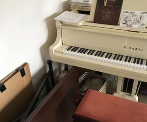 aesthetic, beige, and piano image