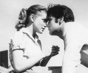 blackandwhite, kiss, and couple image