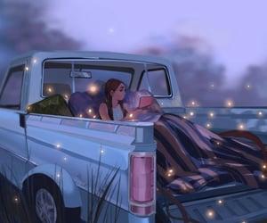 art, illustration, and car image