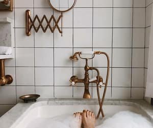 bath, aesthetic, and bathroom image