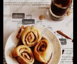 cinnamon rolls, vegan baking, and vegan breakfast image