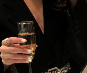 fashion, champagne, and black image
