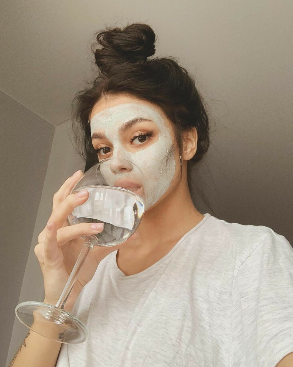 chillin, skin care, and face mask image