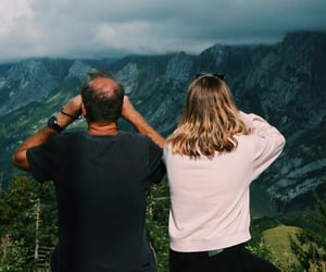 aesthetic, family, and mountain image