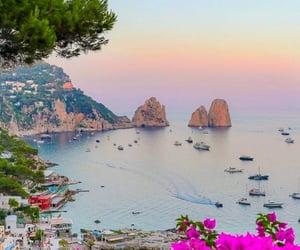 italy, landscape, and capri image