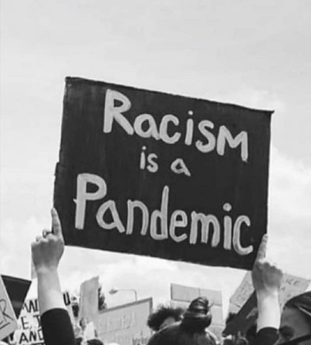 black and white, march, and end racism image