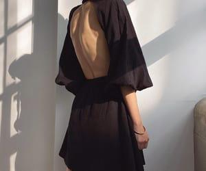 black dress, blogger, and fashion image