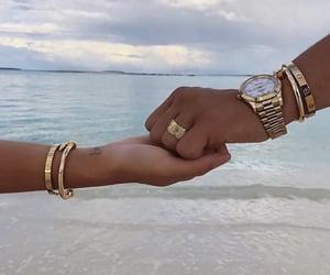 beautiful photography, blue sea, and bracelets image