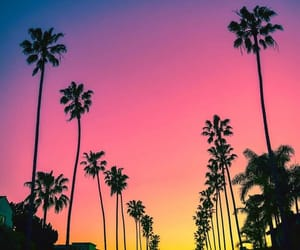 sky, sunset, and california image
