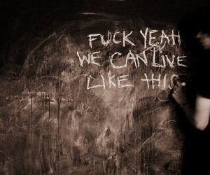 chalk board, fuck yeah, and jacks mannequin image