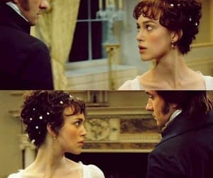 darcy, lizzie bennet, and pride and prejudice image