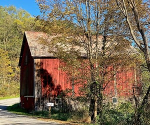 barn, country road, and pennsylvania image