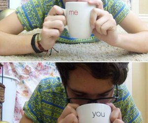 coffee cup and me and you image