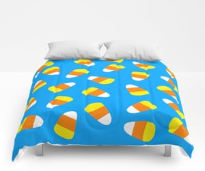 bedroom, home, and candy corn image