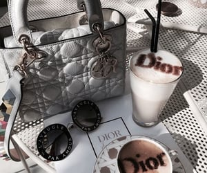 dior, coffee, and fashion image