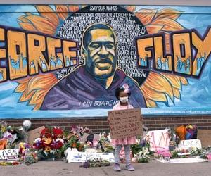 black community, george floyd, and black lives matter image