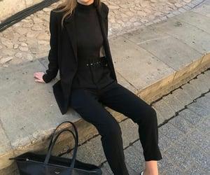 black, blazer, and clothes image