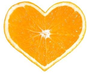 heart, orange, and fruit image