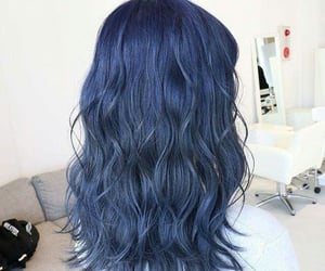 blue hair, hair color, and fantasy color hair image