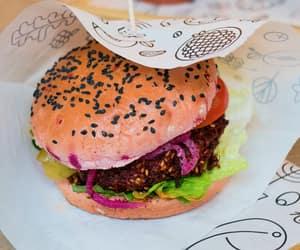 burger, vegan, and veganfood image