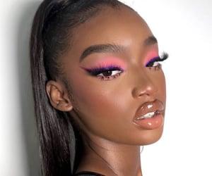makeup, melanin, and beautiful image