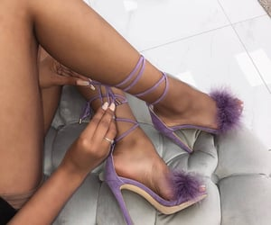 fashion, nails, and high heels image
