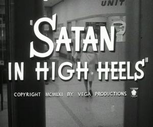 satan, black and white, and vintage image