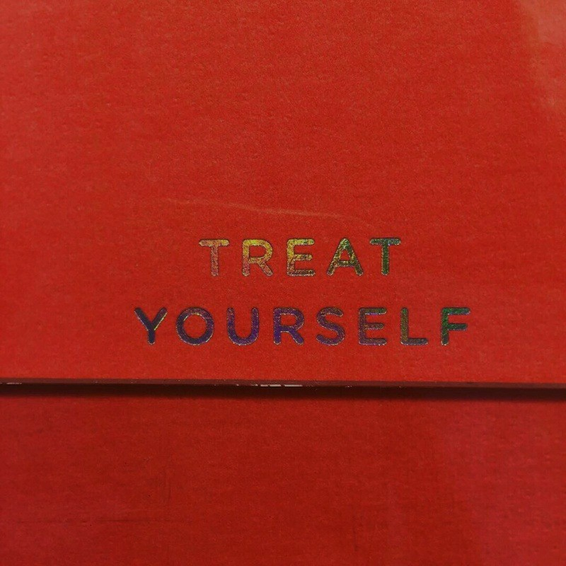optimistic, quote, and treat yourself image