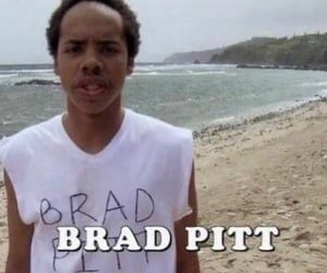 brad pitt, earl sweatshirt, and boy image