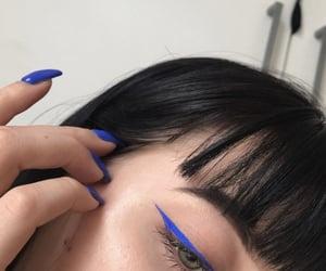 blue, eyeliner, and makeup image