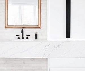 architecture, bathroom, and cabinets image